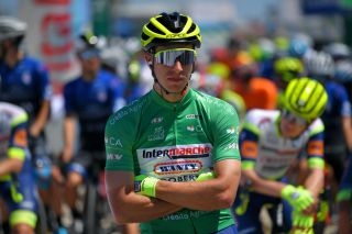 Danny van Poppel wore the green jersey at the Volta ao Algarve after finishing second to soon-to-be teammate Sam Bennett on stage 1