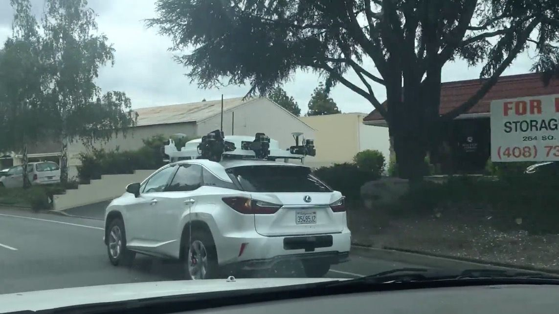 Here's a new look at Apple's self-driving car (video)