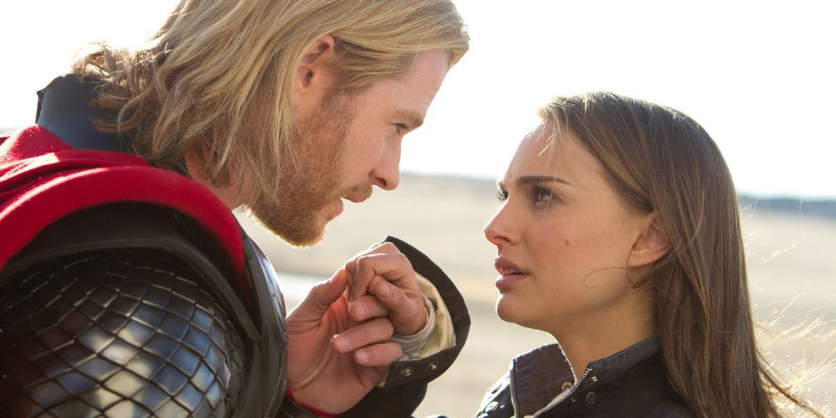 Chris Hemsworth and Natalie Portman as Thor and Jane Foster in 2011 movie