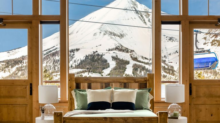 Bedroom in Big Sky home rental owned by Conrad Anker