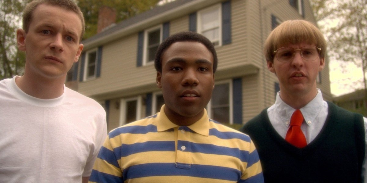 Dominic Dierkes, Donald Glover, and D.C. Piersen in Mystery Team