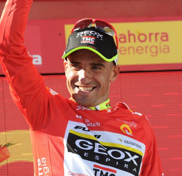Juan Jose Cobo in lead, Vuelta a Espana 2011, stage 17