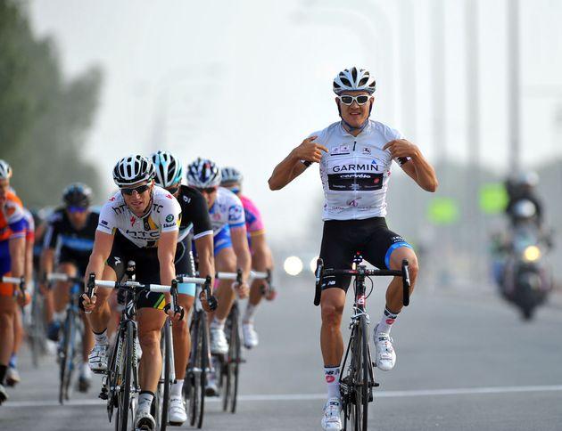Heinrich Haussler wins, Tour of Qatar 2011, stage three