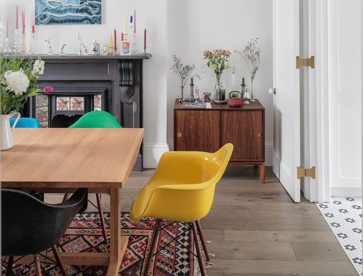 Explore this colorful Victorian townhouse that's full of vintage finds