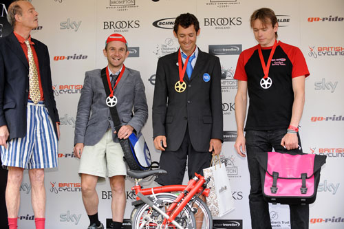 Kay, Heras, Hutchinson, Brompton world champs, Bike Blenheim Palace 2009