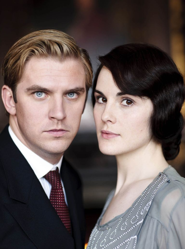 Lady Mary and Matthew Crawley in a scene from Downton Abbey Series 3