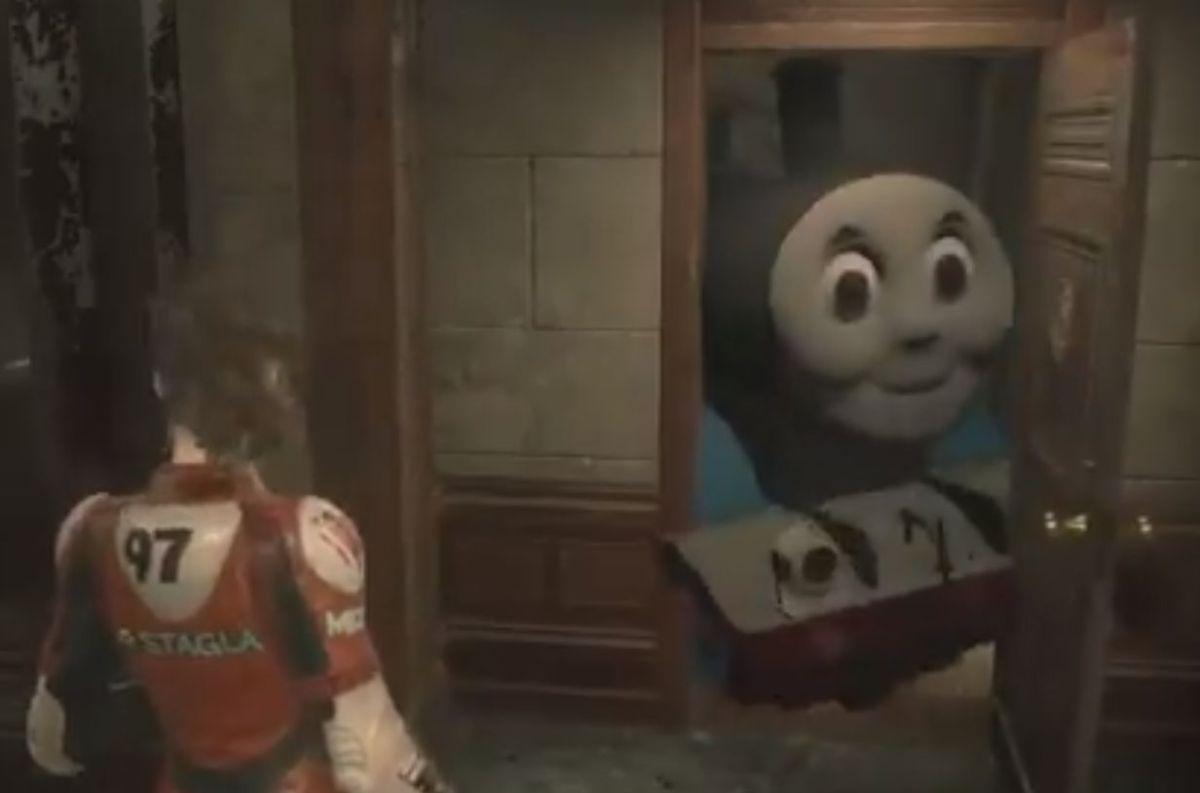 Resident Evil 2 mod turns Mr. X into Thomas the Tank Engine