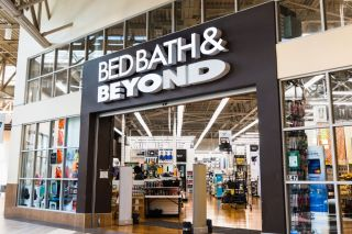 The entrance to a Bed Bath and Beyond store at the Great Mall in Milpitas, California, Sept. 16, 2019.