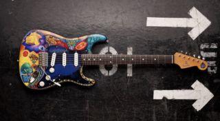 Carlos Santana's wild, psychedelic Strat