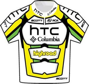 HTC-Columbia jersey Tour de France 2010