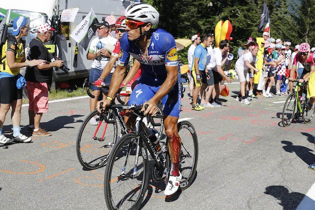 Philippe Gilbert diagnosed with broken knee cap… which he rode with for 59km at the Tour de France