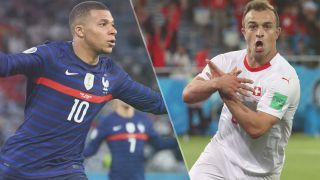 France vs Switzerland live stream at Euro 2020 — Kylian Mbappe of France and Xherdan Shaqiri of Switzerland