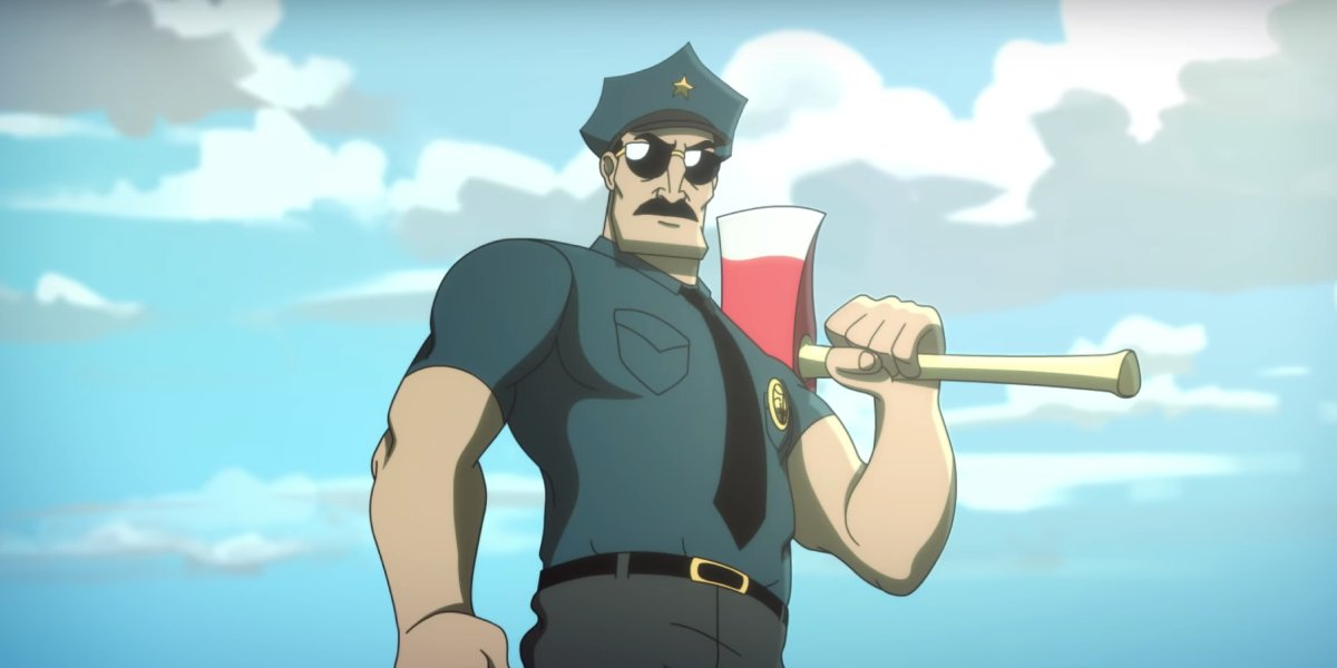 Nick Offerman as the voice of FXX's animated adaptation of Axe Cop