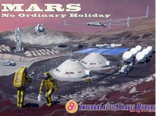 Intergalactic Travel Bureau Postcard