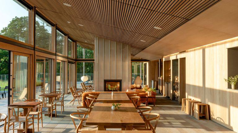 Wood clad main room