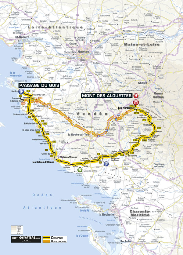 Stage 1 map, Tour de France 2011