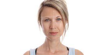 Slightly asymmetrical woman's face