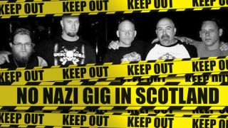 Campaign poster to prevent neo-Nazi gig in Falkirk