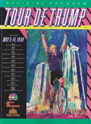The cover of the 1989 Tour de Trump program