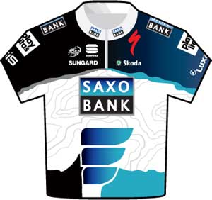 Saxo Bank jersey Tour de France 2010