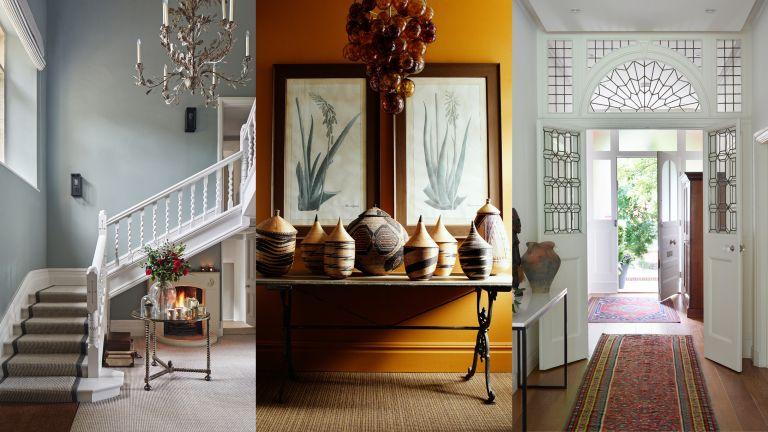A composite of hallway carpet ideas
