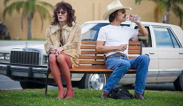 Dallas Buyers Club Jared Leto Matthew McConaughey park bench meeting