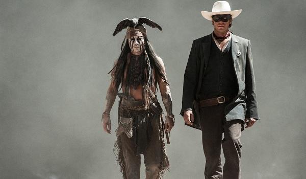 The Lone Ranger Johnny Depp Armie Hammer desert walking