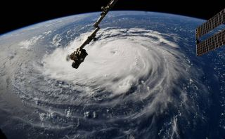 This image of Hurricane Florence swirling on Earth, shared by NASA astronaut Ricky Arnold, was taken from the International Space Station on September 10, 2018.