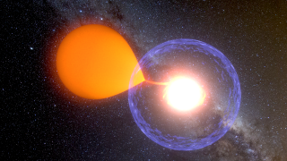 A classical nova pulls matter away from its binary companion star