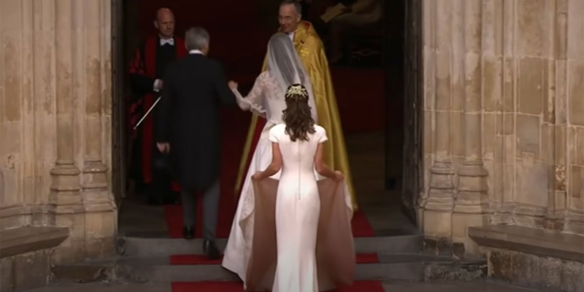 Pippa Middleton TV screenshot from Royal Wedding footage, the royal family.