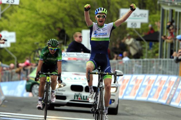 Peter Weening wins stage nine of the 2014 Giro d'Italia