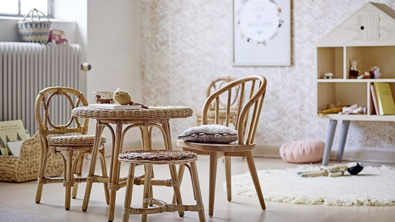 Playroom ideas: Bloomingville Hortense Rattan chair set by Sweetpea & Willow