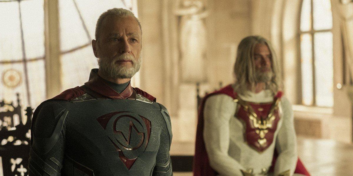 """ben daniels' walter """"brainwave"""" sampson in costume in jupiter's legacy"""