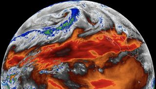 A map of tropical water vapor from NASA. Research on water vapor and other climate features suggests that satellite measurements might have underestimated past warming.