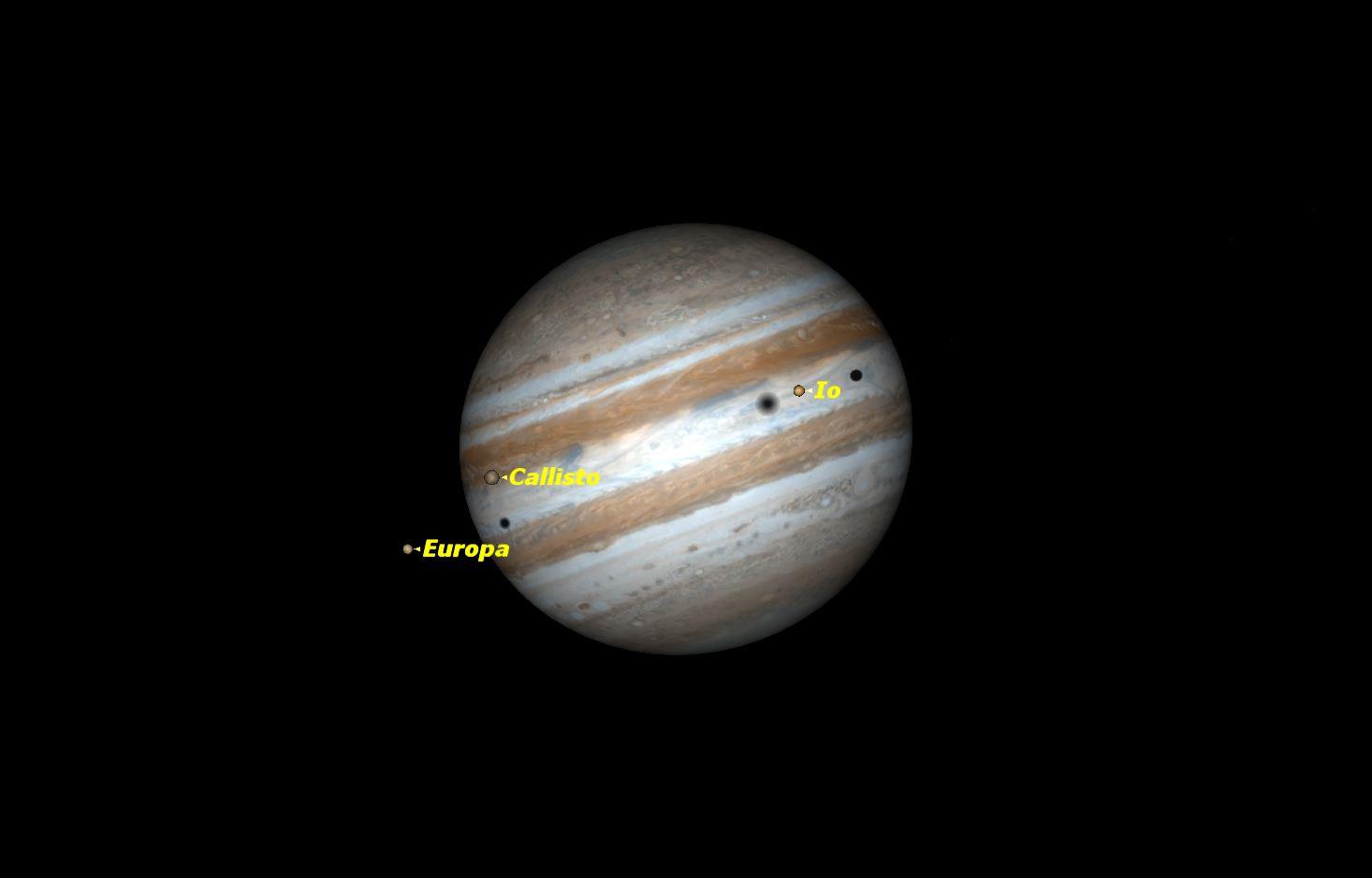 See 3 Moons of Jupiter Perform Rare Triple Transit Friday