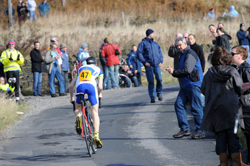Mike Cuming, junior winner, National Hill-Climb Championship 2009