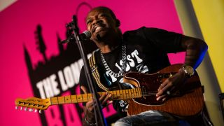 Eric Gales performs at the UK Guitar Show