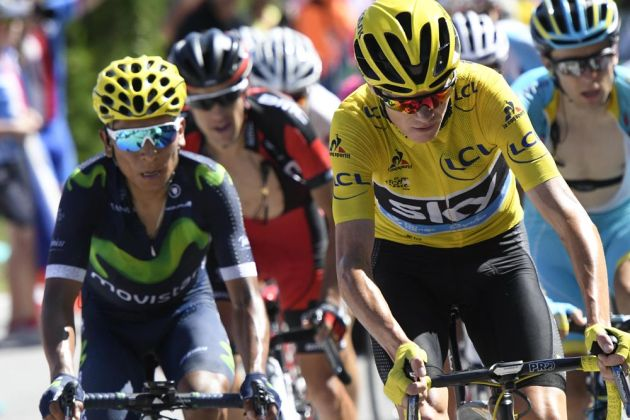 Chris Froome and Nairo Quintana during the 2016 Tour De France