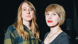 A portrait of Employed To Serve's Justine Jones and Rolo Tomassi's Eva Spence