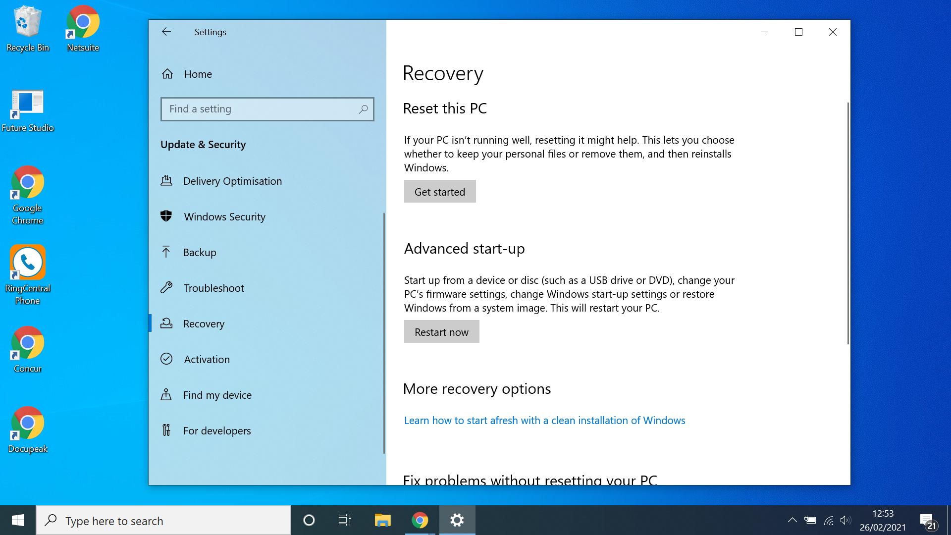 Cómo iniciar Windows 10 en modo seguro, desde el menú Configuración