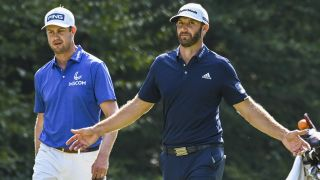 Dustin Johnson (at right, walking with Harris English during The Northern Trust tournament) came away with the Tour Championship and the FedExCup in early September 2020.