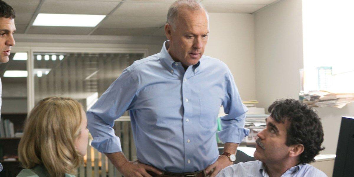 Michael Keaton standing