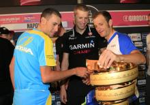 Vincenzo Nibali, Ryder Hesjedal and Michele Scarponi all want their name inscribed on the Giro trophy as 2013 champion