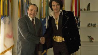 Kevin Spacey and Michael Shannon as Richard Nixon and Elvis Presley