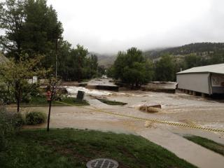 Bridges cut by flooding in Lyons