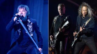 (from left): Bruce Dickinson, James Hetfield and Kirk Hammett