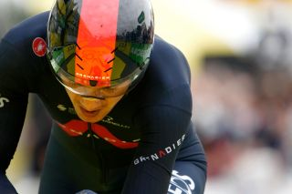 Richard Carapaz (Ineos Grenadiers) during the 2021 Tour de France stage 5 time trial