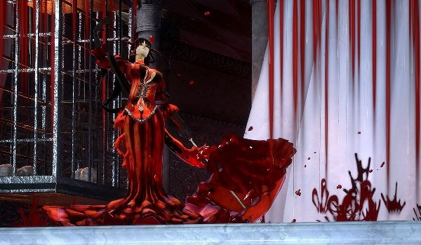 Bloodless, a vampire, attacks in Bloodstained