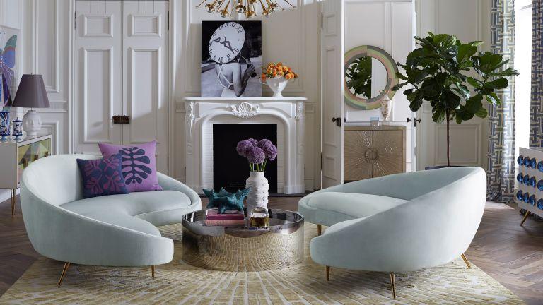 Ether Curved sofa, Jonathan Adler
