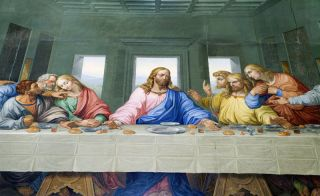"Artist Giacomo Raffaelli's mosaic copy of Leonardo da Vinci's ""Last Supper,"" from 1816."